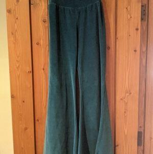 Jayli velvet flare stretch pants